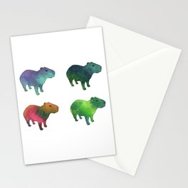 Space Capybaras Stationery Cards