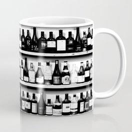Wine Bottles in Black And White #decor #society6 #buyart Coffee Mug