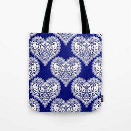 Lace heart 2 Tote Bag