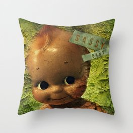 Sassy Baby Decay Throw Pillow
