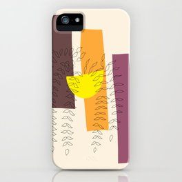 Three Towers — Minimalist Abstract Hanging Plant iPhone Case