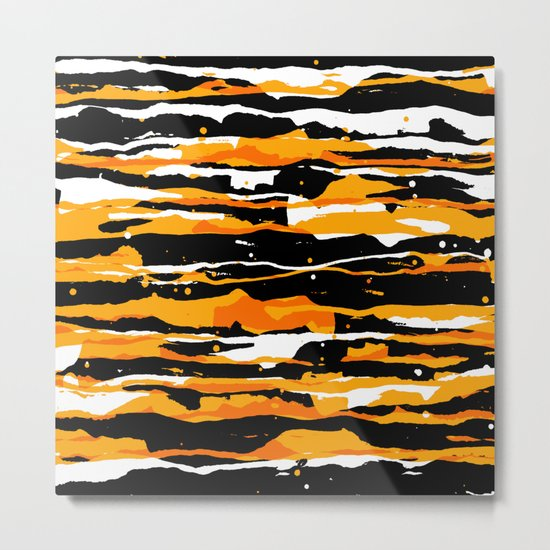 black and orange 02 Metal Print