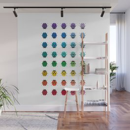 Rainbow Ladybugs - Modern Cute Ladybugs Wall Mural