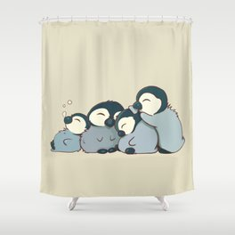 Pile of penguins Shower Curtain