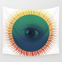 third eye Wall Tapestries featuring Third Eye by ochre7