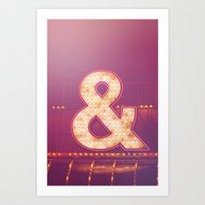 Neon Ampersand Art Print