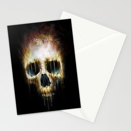 Skull Flame Stationery Cards