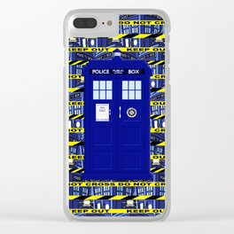 Tardis Yellow Line Clear iPhone Case