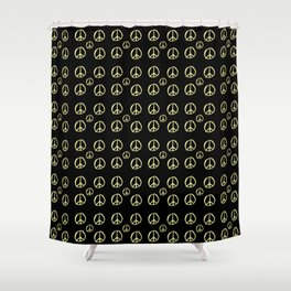 Symbol of peace 2 Shower Curtain