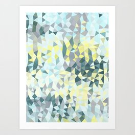 Spring Rain Tris Art Print