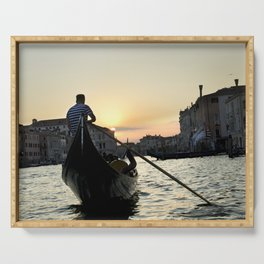 Gondolier at Sunset Serving Tray
