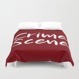Crime Scene - Red Duvet Cover