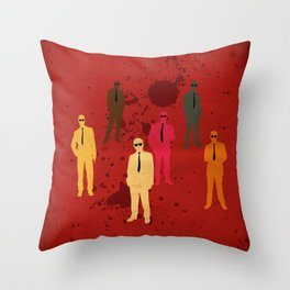 Six Angry Dogs Throw Pillow