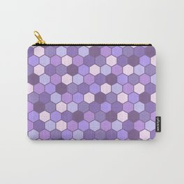 Galactic Hexagons in Purple Carry-All Pouch