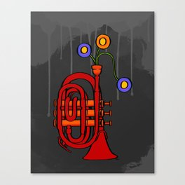 Happy to see my pocket trumpet Canvas Print