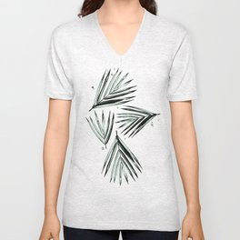 Palm Leaves Pattern #2 Unisex V-Neck