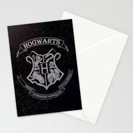 Cosmic Hogwarts Crest HP Stationery Cards