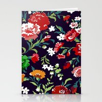 vampire weekend Stationery Cards featuring VAMPIRE WEEKEND FLORAL VECTOR by Danielle Ebro