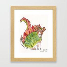 STANLEY STEGOSAURUS #dinodoggo Framed Art Print