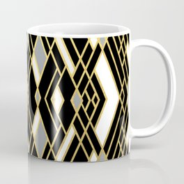 Art Deco Grey Gold Coffee Mug