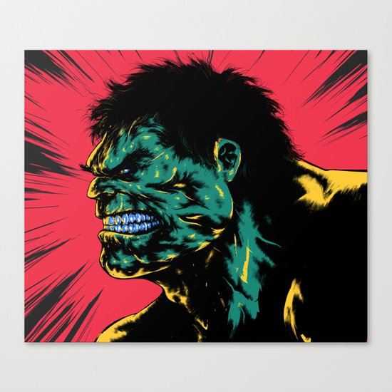 Hulk - Green Canvas Print