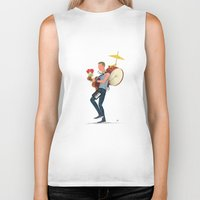 coldplay Biker Tanks featuring A sky full of stars! by Diego Caceres