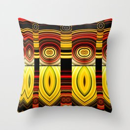 Fractured Ring 17 Throw Pillow