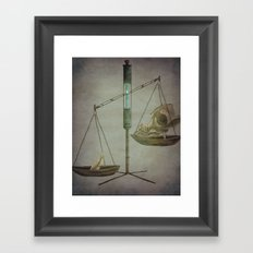 Skull and Feather  Framed Art Print