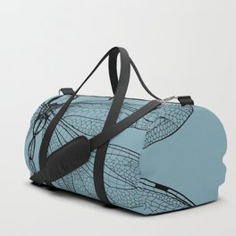 Dragonfly on Blue Duffle Bag