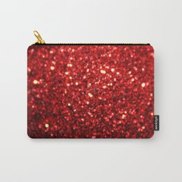 Bright Red Glitter Bling Carry-All Pouch