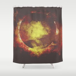 The baby moon Shower Curtain