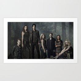 The Vampire Diaries Cast Art Print