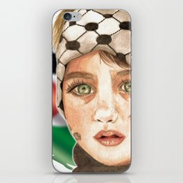 Free Palestine in watercolor iPhone Skin