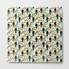 Toucan Pattern Metal Print