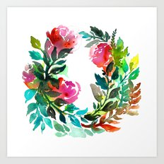 Rose Wreath Art Print