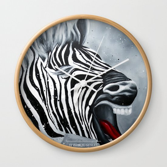 Cheeky Zebra Wall Clock