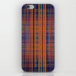 Orange grunge stripes pattern iPhone Skin
