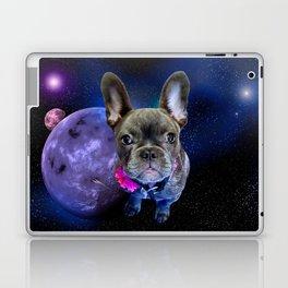 Dog French Bulldog and Galaxy Laptop & iPad Skin