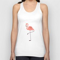 flamingo Tank Tops featuring Flamingo by Pati Designs