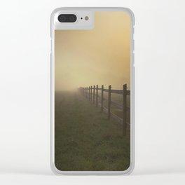 Misty Sunrise on the Farm Clear iPhone Case