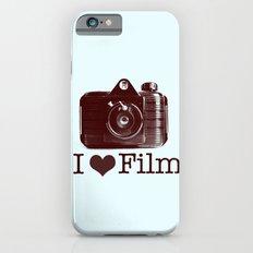I ♥ Film (Maroon/Aqua) Slim Case iPhone 6s
