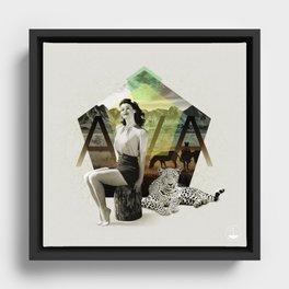 Divas: Ava Gardner. Framed Canvas