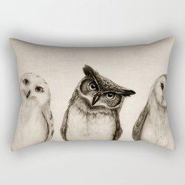 The Owl's 3 Rectangular Pillow