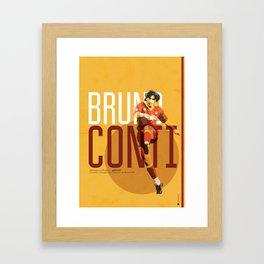 Bruno Conti AS Roma / Serie A Superstar Football Player Framed Art Print