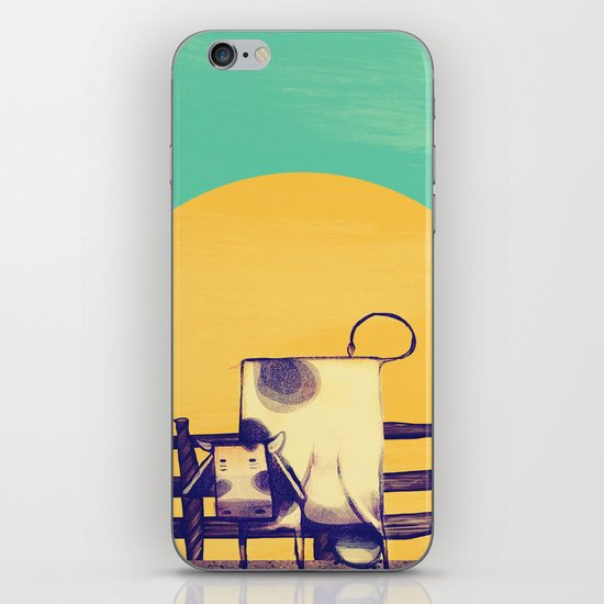 Cow Sunset iPhone & iPod Skin
