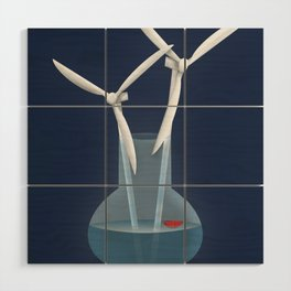 Don't forget to water your wind turbines Wood Wall Art