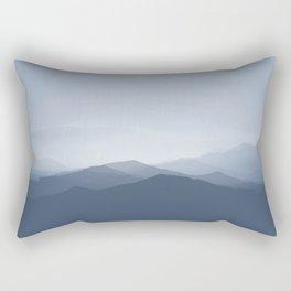 hazy morning blues Rectangular Pillow