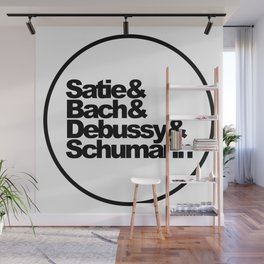 Satie and Bach and Debussy and Schumann, Classical Music Composers, circle Wall Mural