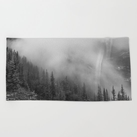 Fog in the Mountains Beach Towel