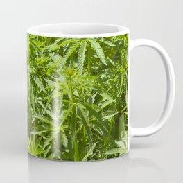 Cannabis Texture Marijuana Leaf Coffee Mug